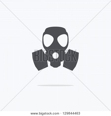 Respirator icon. Gas mask icon. Vector illustration.