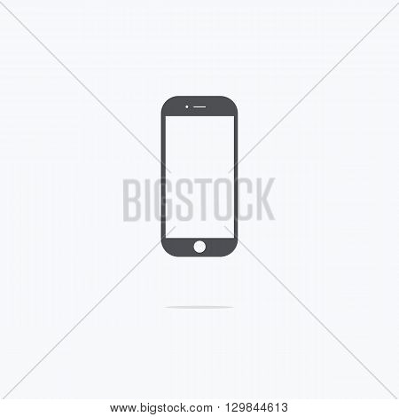Smartphone icon in iphone style. Vector illustration.