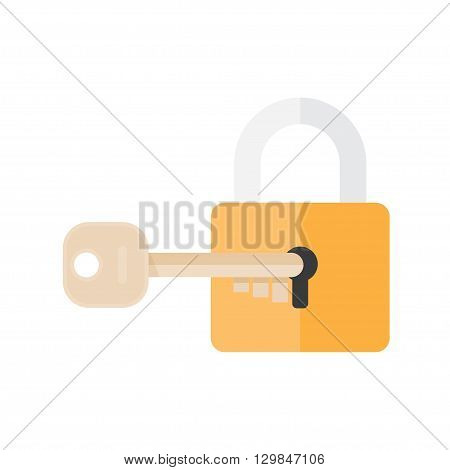 Lock and key. lock with key. Key lock icon. Vector lock icon key. Lock and key in flat style. Padlock with key. Sign unlocking access password. Lock icon. Key icon. poster