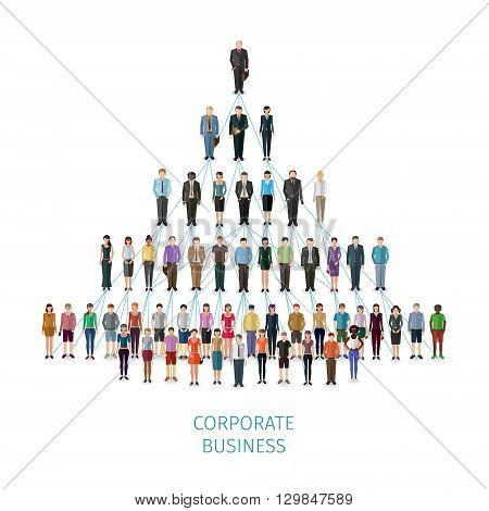 modern illustration -  vector concept of business organisation