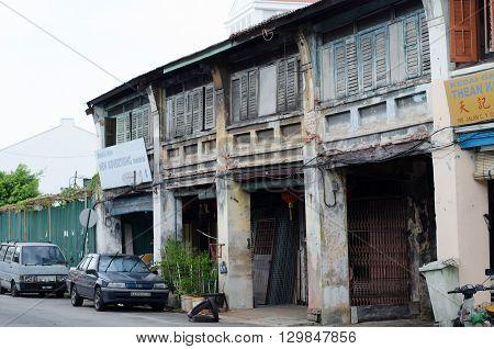 ENANG MALAYSIA - MAY 10 2016 : Sino-Portuguese House in George Town Penang Malaysia