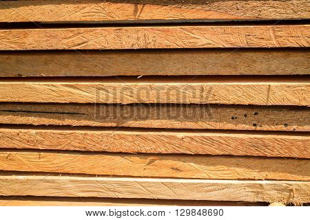 Wood log for construction buildings background stock photo
