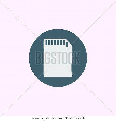 Sd Card Icon In Vector Format. Premium Quality Sd Card Symbol. Web Graphic Sd Card Sign On Blue Circ