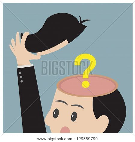 Business Empty mind. Can used for advertising idea.