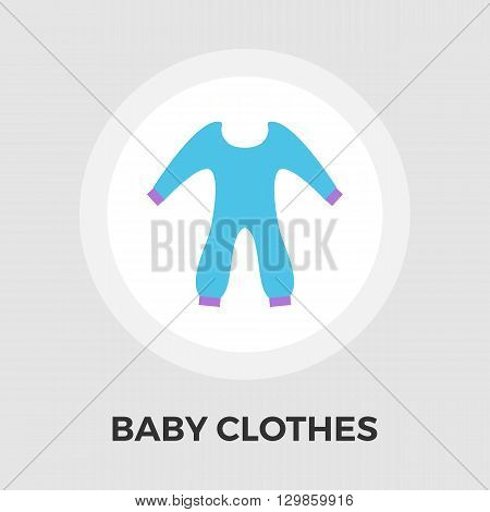 Baby Clothes Icon Vector. Flat icon isolated on the white background. Editable EPS file. Vector illustration.
