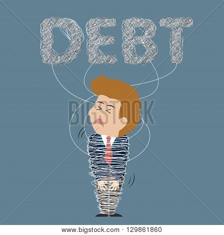DEBT corset in body business. Can used for advertising idea.