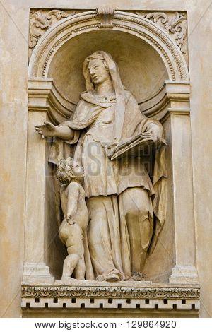 Statue Of A Sybil At Prague Loreta