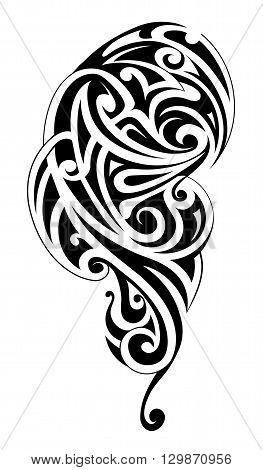 Maori style tattoo ornament. Polynesian body art
