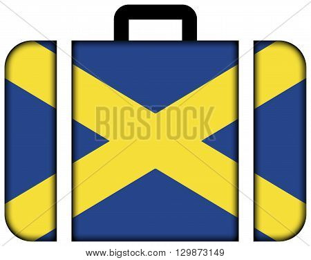 Cross Of St. Alban. Suitcase Icon, Travel And Transportation Concept