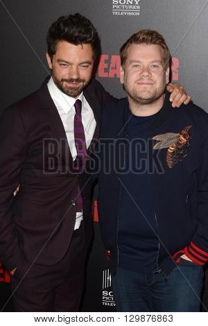 LOS ANGELES - MAY 14:  Dominic Cooper, James Corden at the Preacher Premiere Screening at the Regal 14 Theaters on May 14, 2016 in Los Angeles, CA