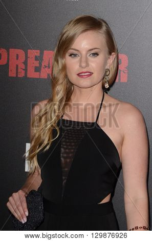 LOS ANGELES - MAY 14:  Sarah Minnich at the Preacher Premiere Screening at the Regal 14 Theaters on May 14, 2016 in Los Angeles, CA