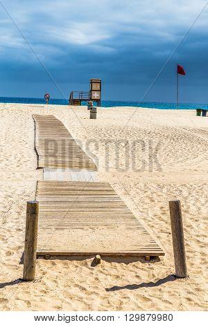 Lifeguard Tower On Corralejo Beach - Corralejo Fuerteventura Canary Islands Spain