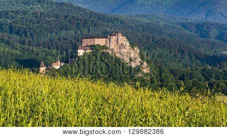 Beautiful Castle Oravsky Podzamok Near Dolny Kubin In Slovakia