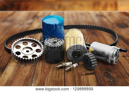Car spare parts.