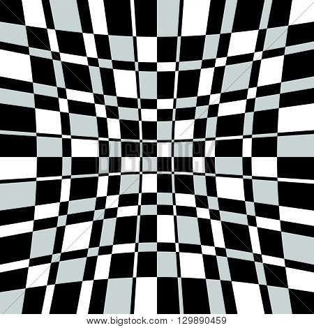 Checkered, Squared Mosaic Pattern. Abstract Geometric Illustration.