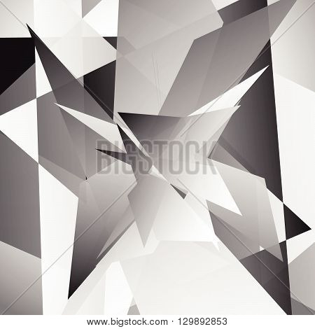 Abstract Edgy, Geometric Graphics. Shatters, Splinters Abstract Digital Art.