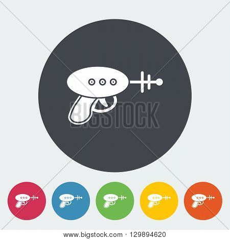 Gun toy icon. Flat vector related icon for web and mobile applications. It can be used as - logo, pictogram, icon, infographic element. Vector Illustration.