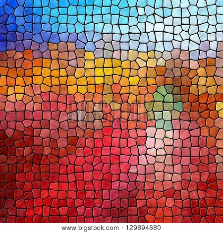 red blue mosaic pattern texture background with black grout