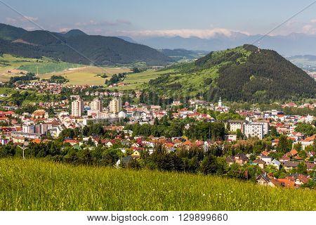 Overlook Of The City Of Ruzomberok In Slovakia