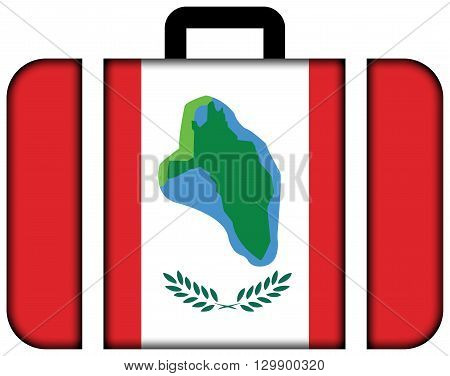 Flag Of Cumberland Head, New York. Suitcase Icon, Travel And Transportation Concept