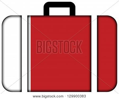 Flag Of Dubai. Suitcase Icon, Travel And Transportation Concept
