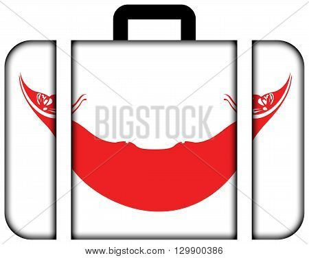 Flag Of Easter Island. Suitcase Icon, Travel And Transportation Concept