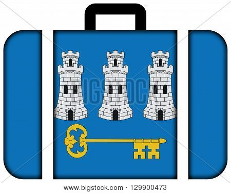 Flag Of Havana. Suitcase Icon, Travel And Transportation Concept