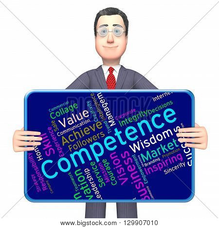 Competence Words Meaning Expertise Text And Competency poster
