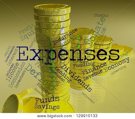 Expenses Word Shows Expenditure Accounting And Business