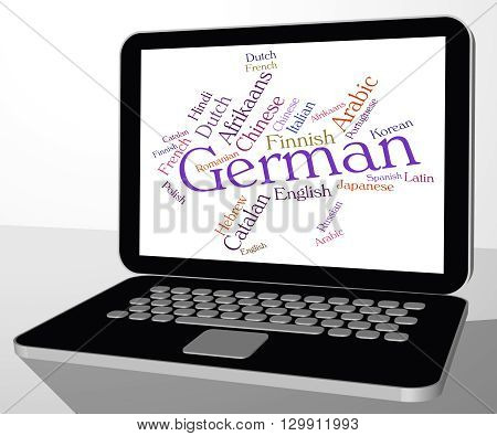 German Language Means Word Words And Text