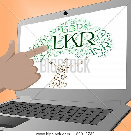 Lkr Currency Shows Sri Lankan Rupees And Currencies