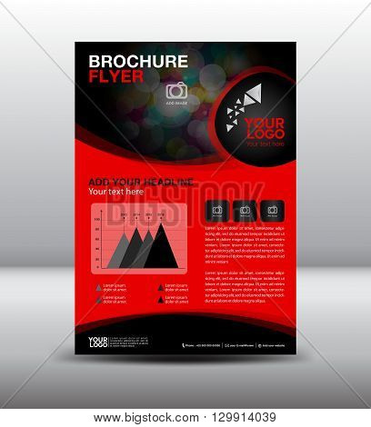 business brochure flyer design layout template newsletter Leaflet poster flyer layout vector geometrical background