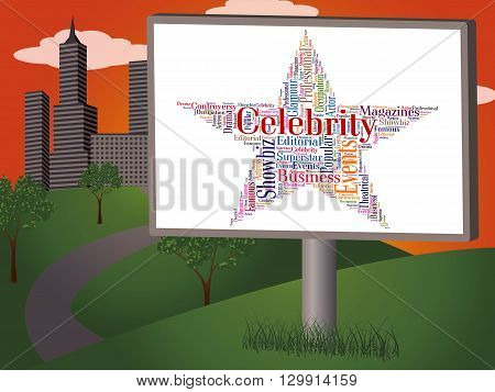 Celebrity Star Means Text Word And Fame