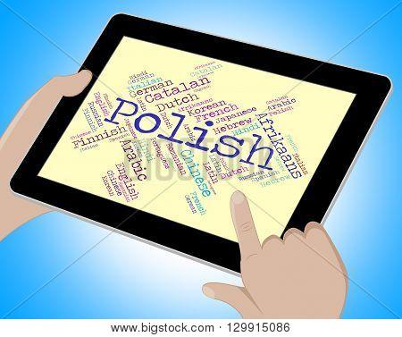 Polish Language Shows Vocabulary Word And Lingo