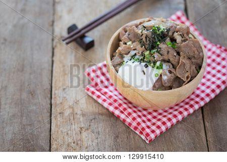 Donburi, Pork Rice Bowl