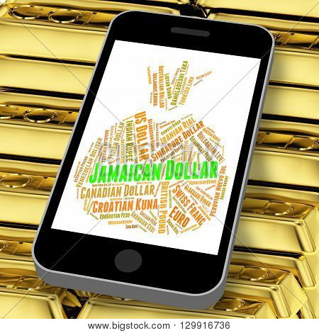 Jamaican Dollar Showing Exchange Rate And Broker poster
