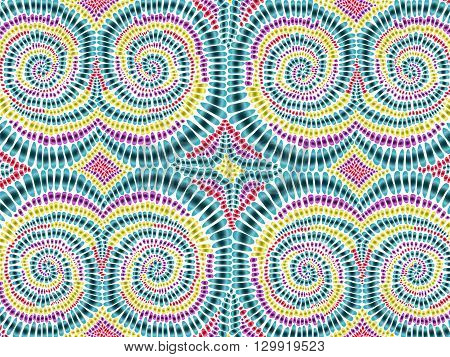 Boho Tie Dye Background Watercolor Effect Vector Rainbow Colors 2