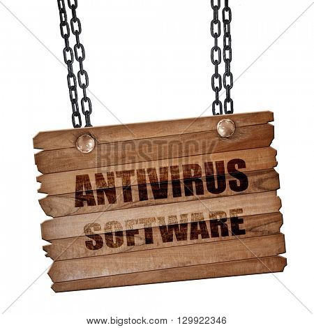 Malware computer background, 3D rendering, wooden board on a gru
