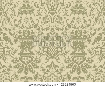 Seamless pattern in the style of Baroque.