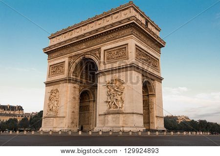 the Triumphal Arch is one of the famous monument in Paris.It honors those who fought and died for France.
