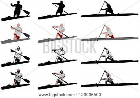 sprint canoe competitors