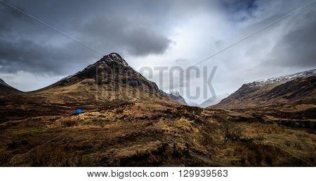 camping in the beautiful Glencoe Scotland UK.