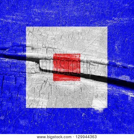 Whiskey maritime signal flag