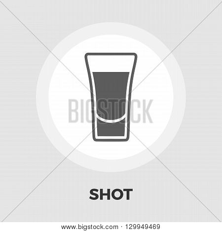 Shot drink icon vector. Flat icon isolated on the white background. Editable EPS file. Vector illustration.