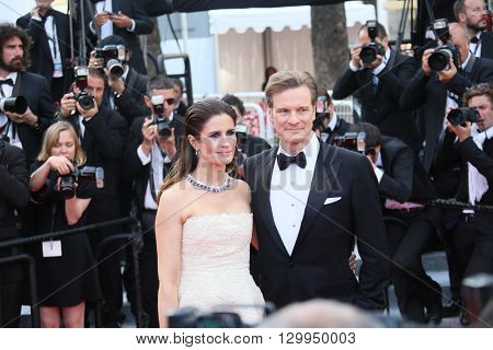 Colin Firth, Livia Firth attend the 'Loving' Photocall at the annual 69th Cannes Film Festival at Palais des Festivals on May 16, 2016 in Cannes, France.