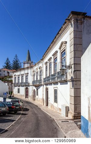 Santarem, Portugal. September 11, 2015:  Municipal Library, also known as the Anselmo Braamcamp Freire House-Museum.