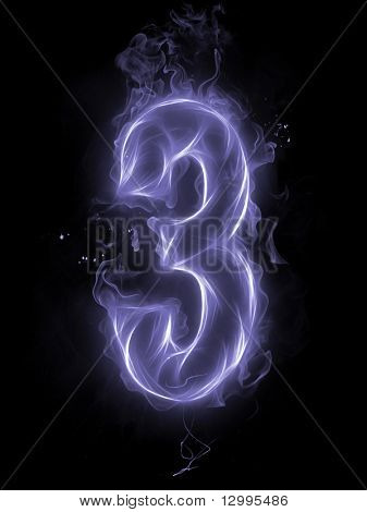 Number 3 - A series of letters and numbers