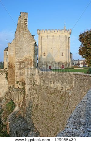 keep and walls of Pons Castle in France