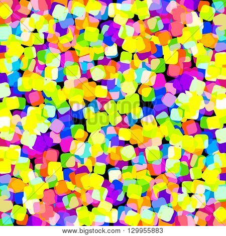 Festive background for the birthday celebration. Multi-colored sweets, bokeh. Romantic background