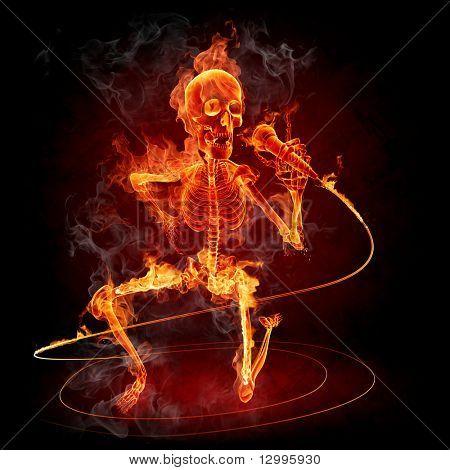 Singer Series of fiery illustrations